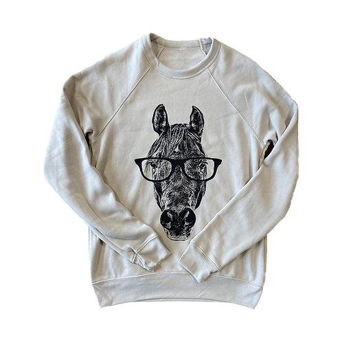 Hipster Horse Sweatshirt