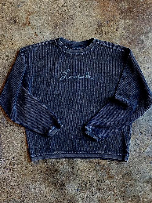 Louisville Corded Sweatshirt - Vintage Black