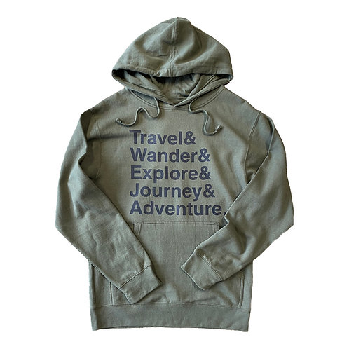 Travel Helvetica Hoodie