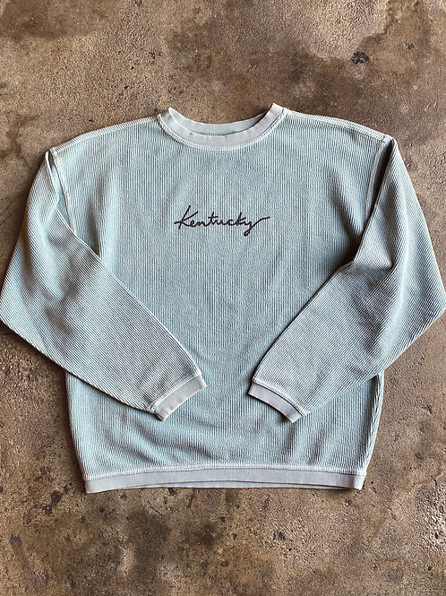 Kentucky Corded Sweatshirt - Baby Blue