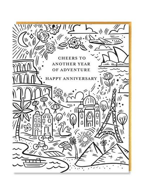 Adventure Anniversary Card