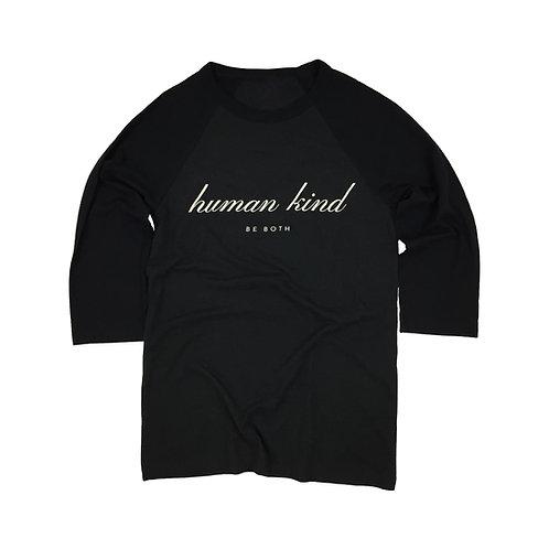 HumanKind Be Both Baseball Tee