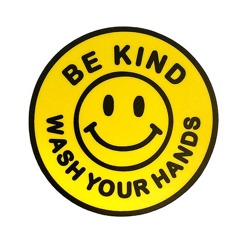 Be Kind Wash Your Hands - Sticker