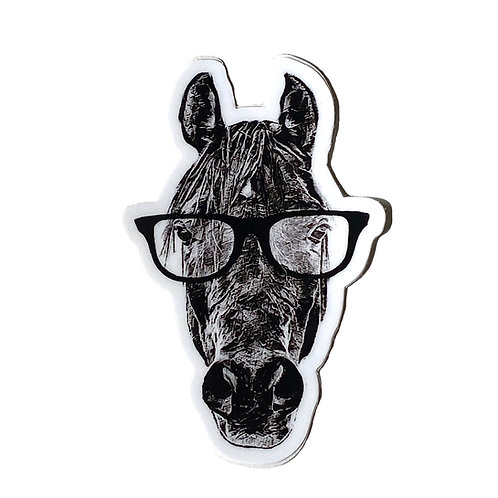 Hipster Horse - Sticker