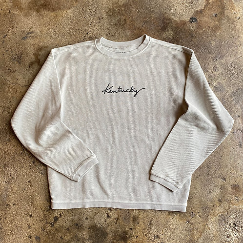 Kentucky Corded Sweatshirt - Oatmeal