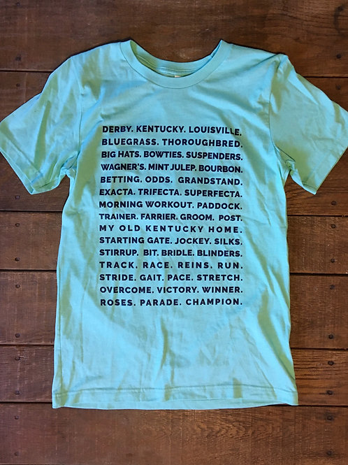 Derby Words Tee