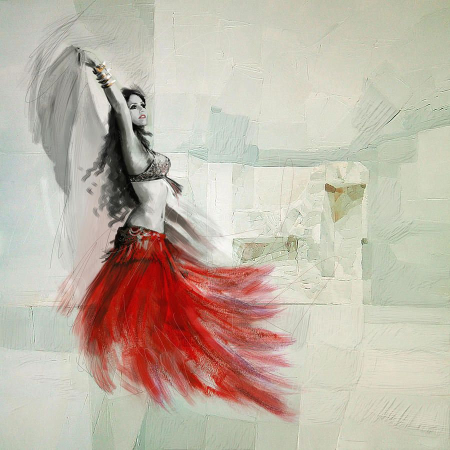 Belly Dancer 6 Painting by Corporate Art