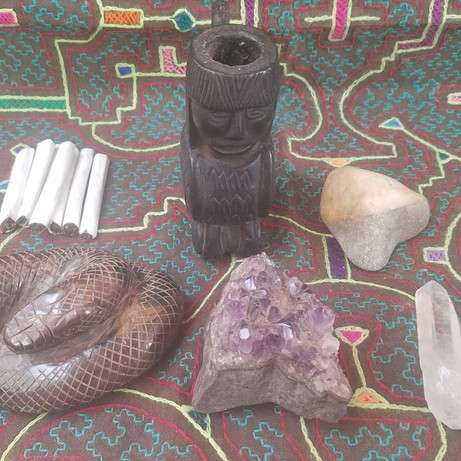 Tools for an Ayahuasca ceremony