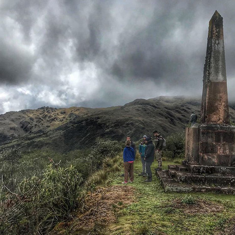 Overlook with a obelisk and history about the formation of Manu National Park