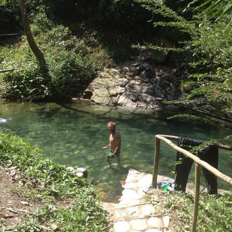 Aguas Calientes Hot Springs, Manu Peru