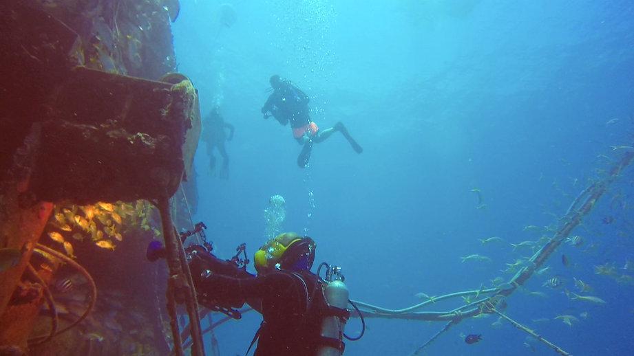 Underwater Scuba Diving Team