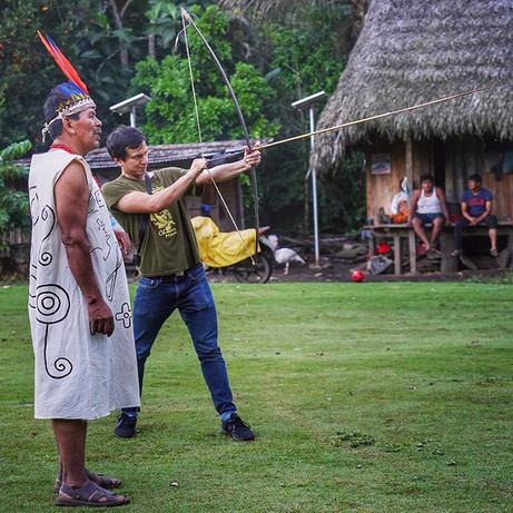 A hands on Amazonian archery lesson