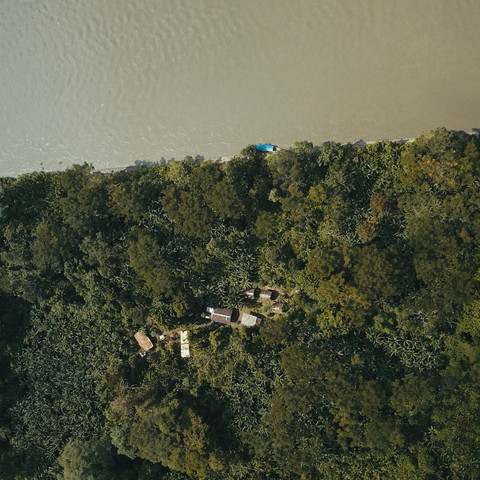 Parign Hak on the Upper Madre de Dios River (as seen from above)