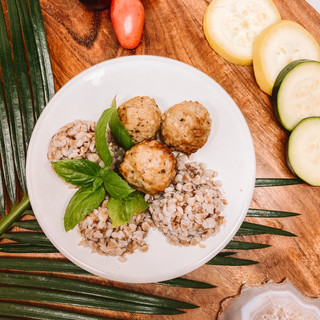 Buckwheat with Meatballs