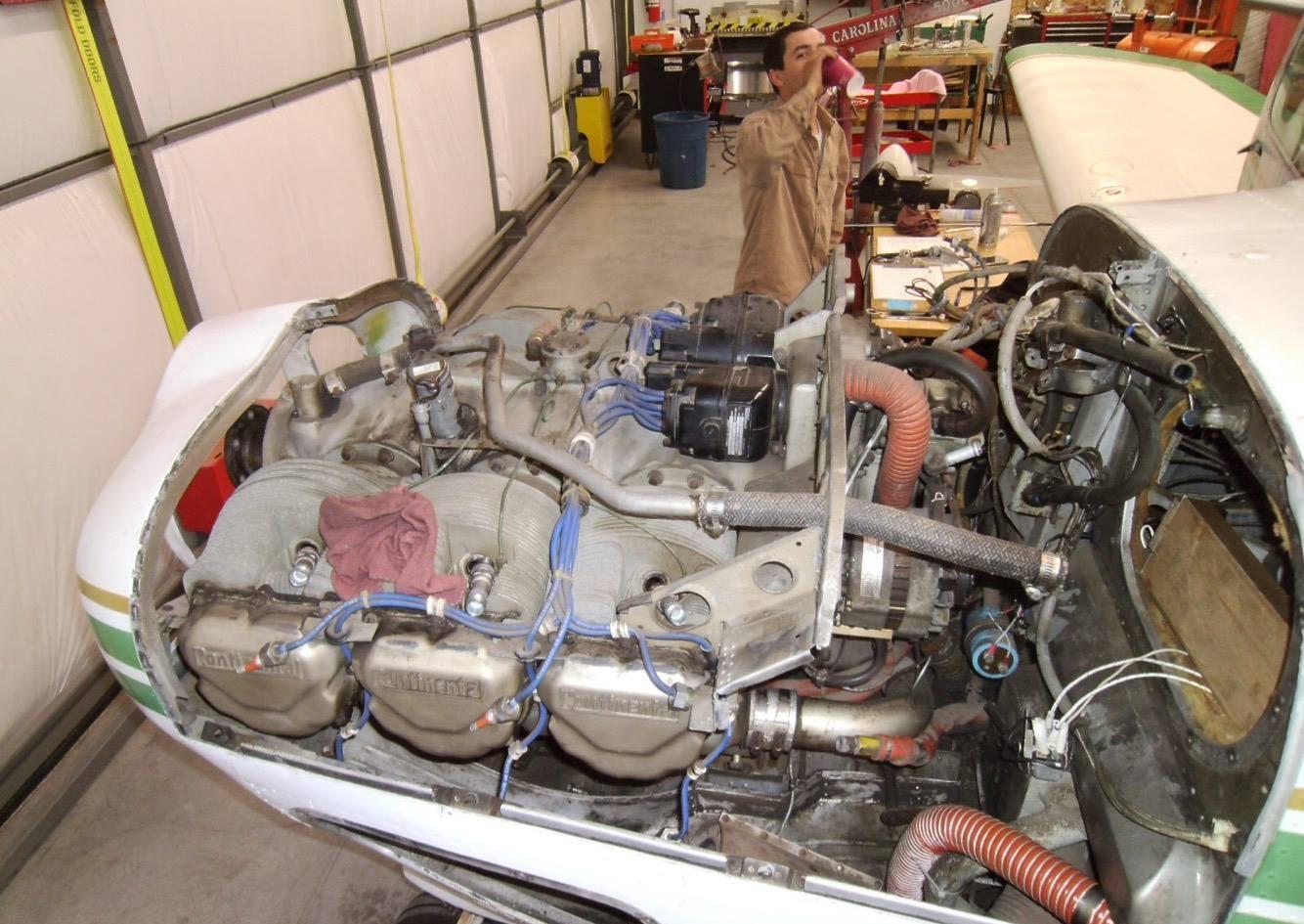 Starting to remove original engine