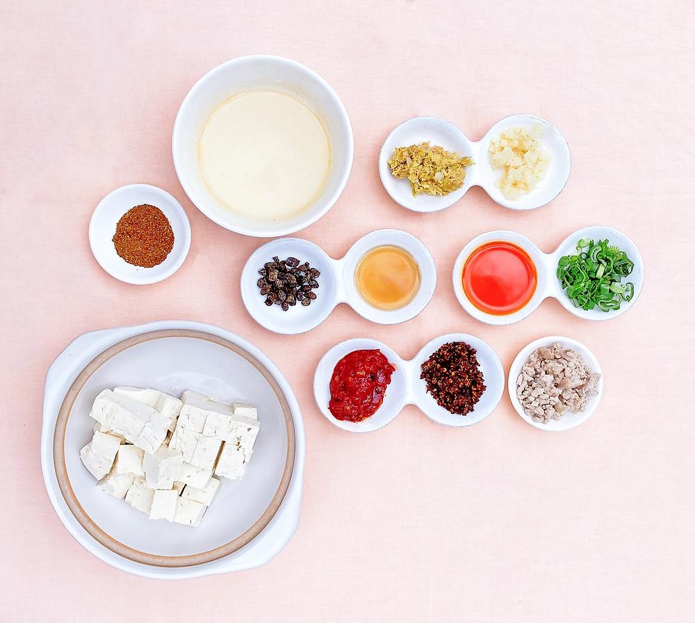 Mapo-Tofu Zutaten