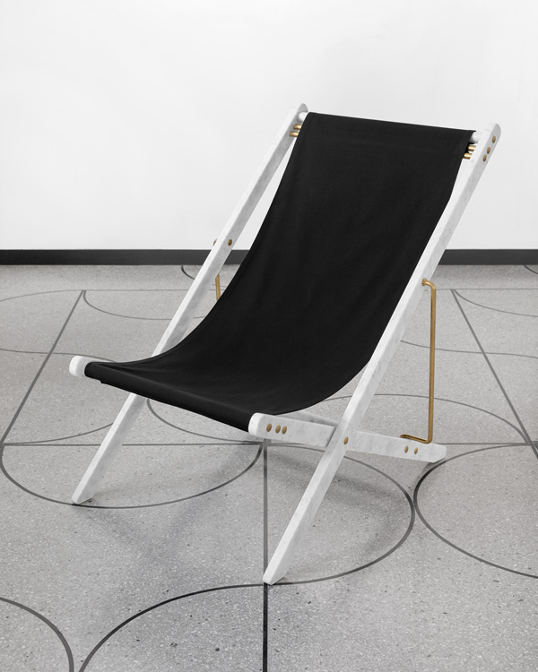 Adaptations: Marble deckchair