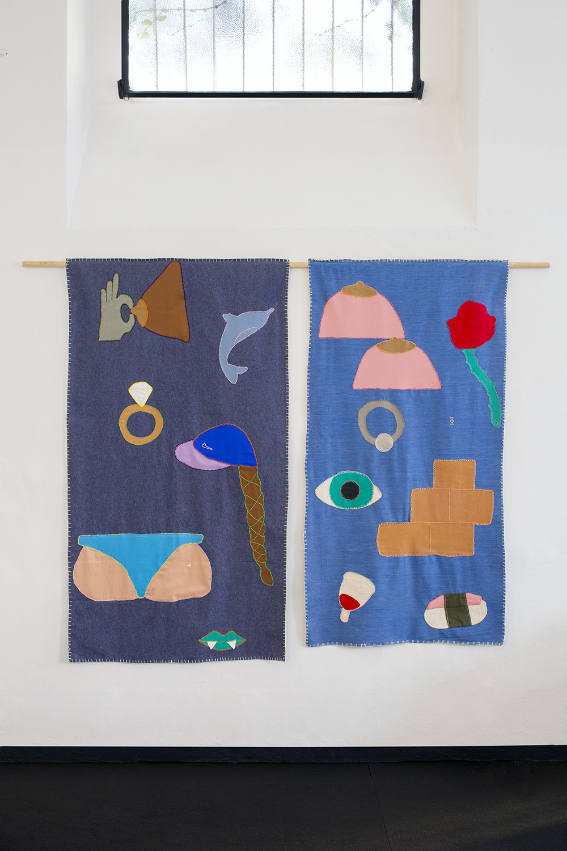 Arpilleras presented at SUR FACE exhibition