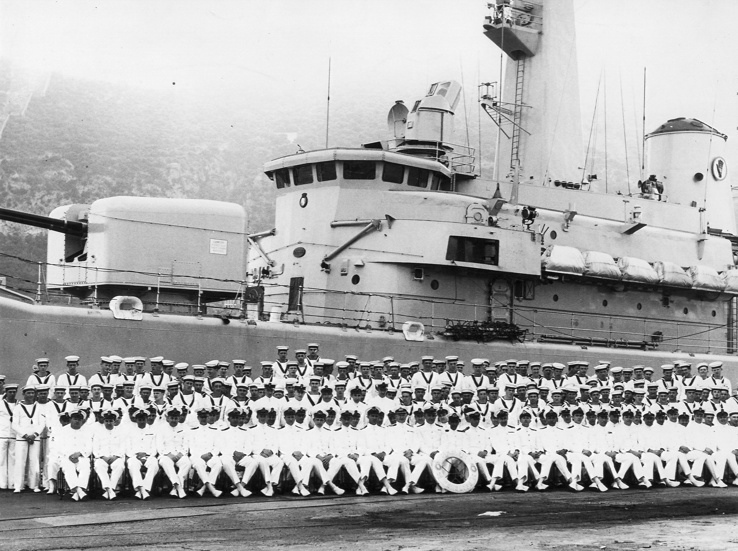 6. Ship's company at Gibraltar circa Spring - Summer 1964