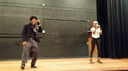 Enyx and Queen Performance Rehersal