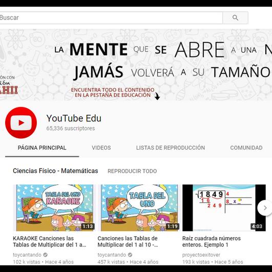 Canal educativo de Youtube