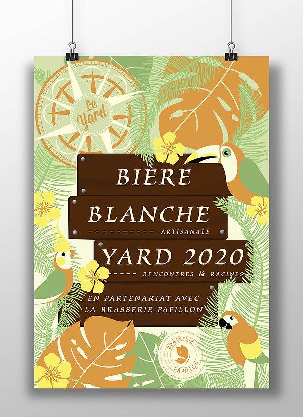 Poster bière blanche