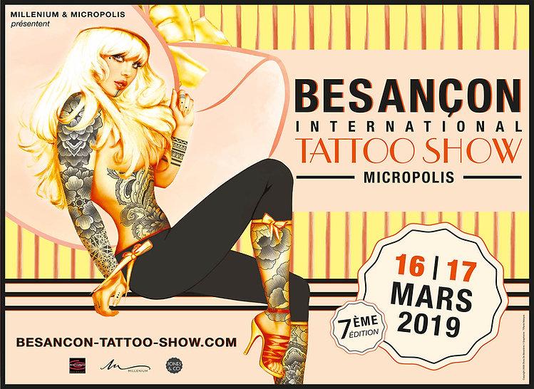 Affiche 12m2 Besancon international tattoo show