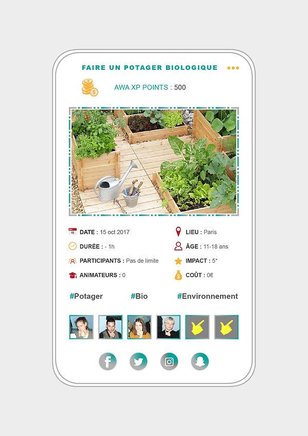 Design application mobile