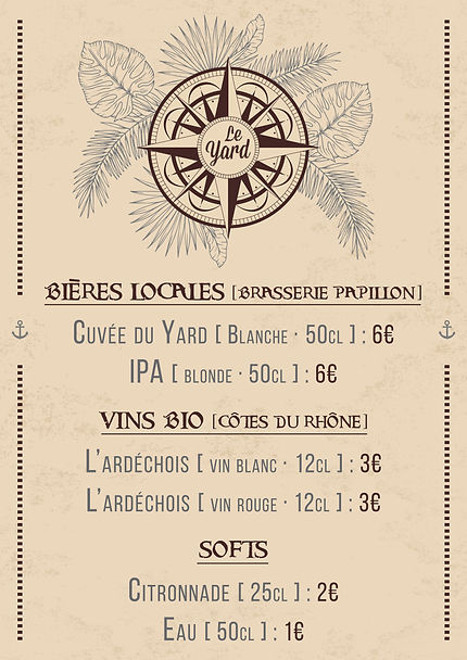 Ardoise bar Le Yard #4