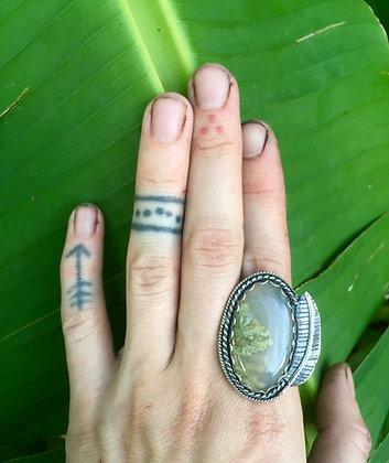 The Banana Plant Ring (OOAK)
