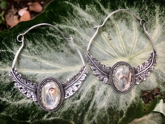 The Luna Moth and Dixie Fern Hoops