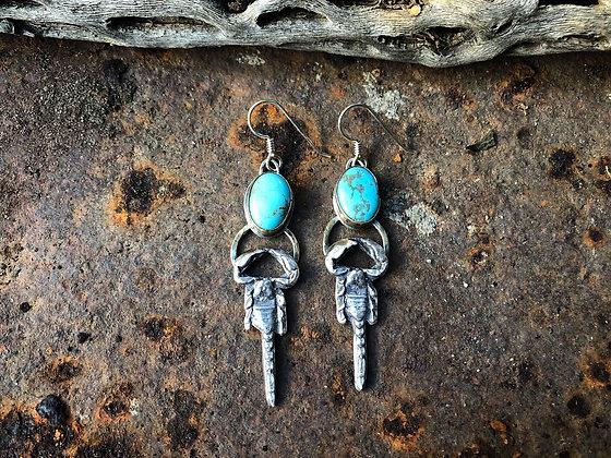 The Kingman Scorpion Earrings