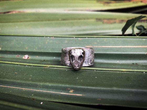 The Cypress + Anole Skull Ring