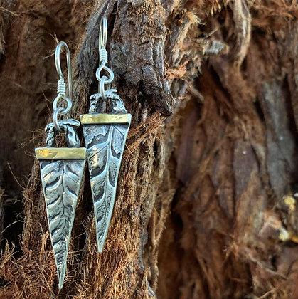 The Forest Spear Earrings - Fern