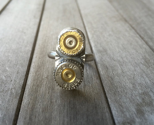 The Double Barrel Ring (OOAK)