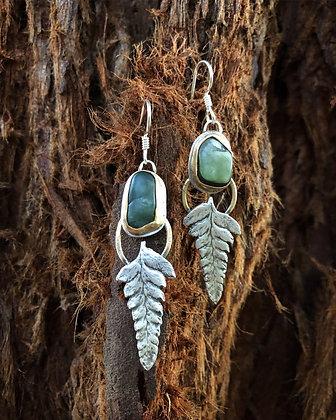 The Jade + Fern Earrings