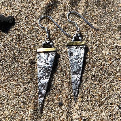 The Ocean Spear Earrings - Sea Urchin