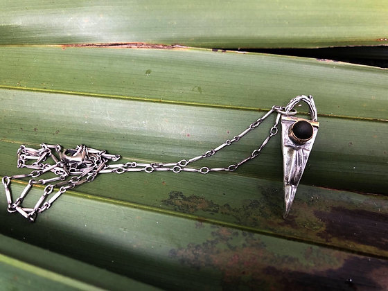 The Alligator + Cypress Wood Spear Necklace