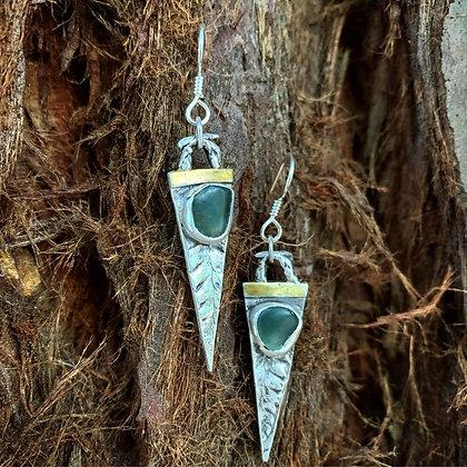 The Forest Spear Earrings - Fern + Jade