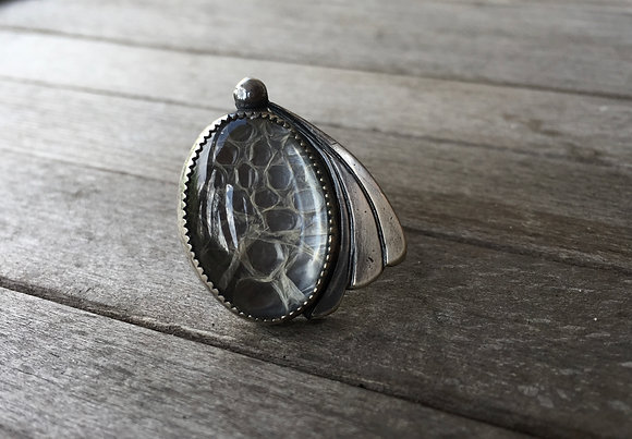 The Python Petal Ring (OOAK)