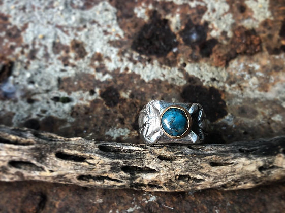 The Double Scorpion + Turquoise Ring