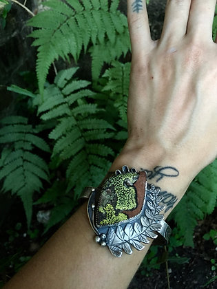 The Ferns and Moss Bracelet (OOAK)