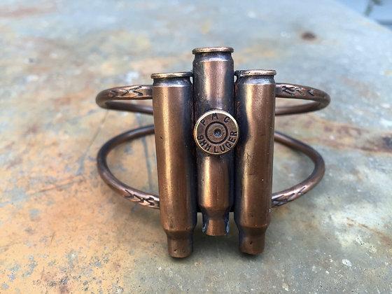 9mm Triple Bullet Statement Cuff (OOAK)