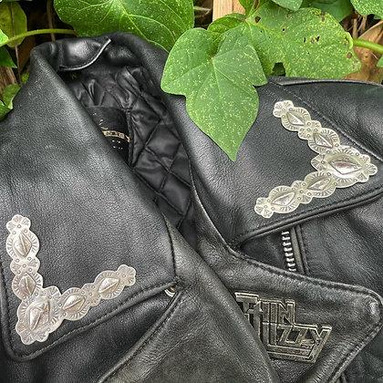 The Alligator Leather Jacket Collar Tips