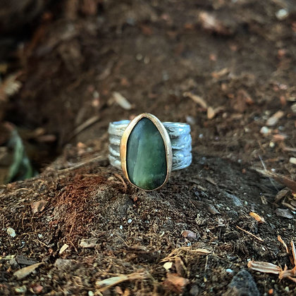The Redwood + Jade Ring