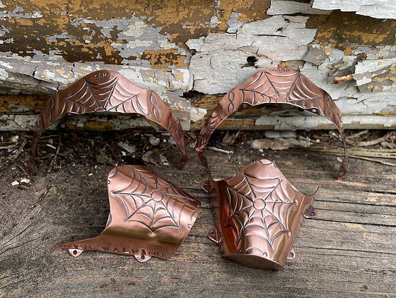 The Copper Spiderwebs Boot Tips