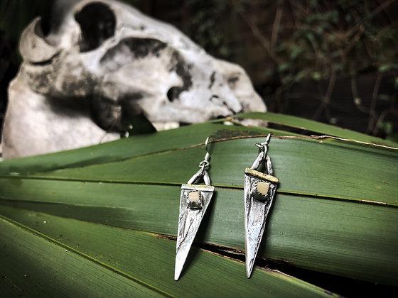 The Cypress + Boar Tooth Spear Earrings