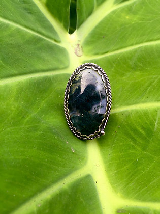 The Moss Agate and Fern Ring