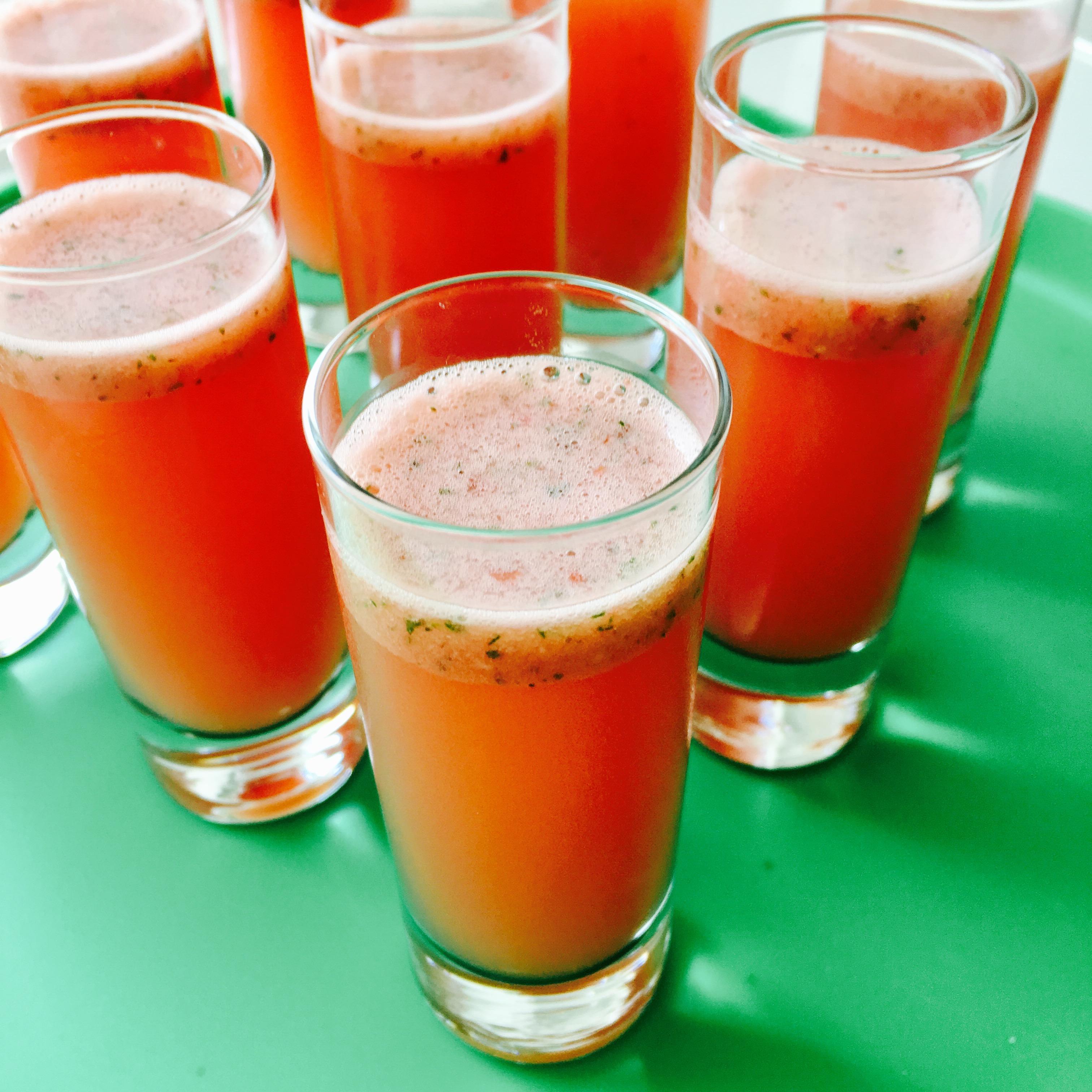 Watermelon, Mint & Lime Shots