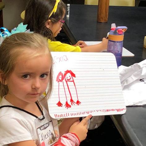 Drawing at KidVid!